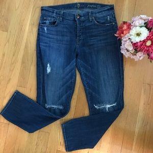 7FAMK Josefina Skinny Boyfriend Jeans Size 28